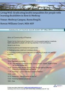 Kent and Medway Learning Disability CoP May Flyer